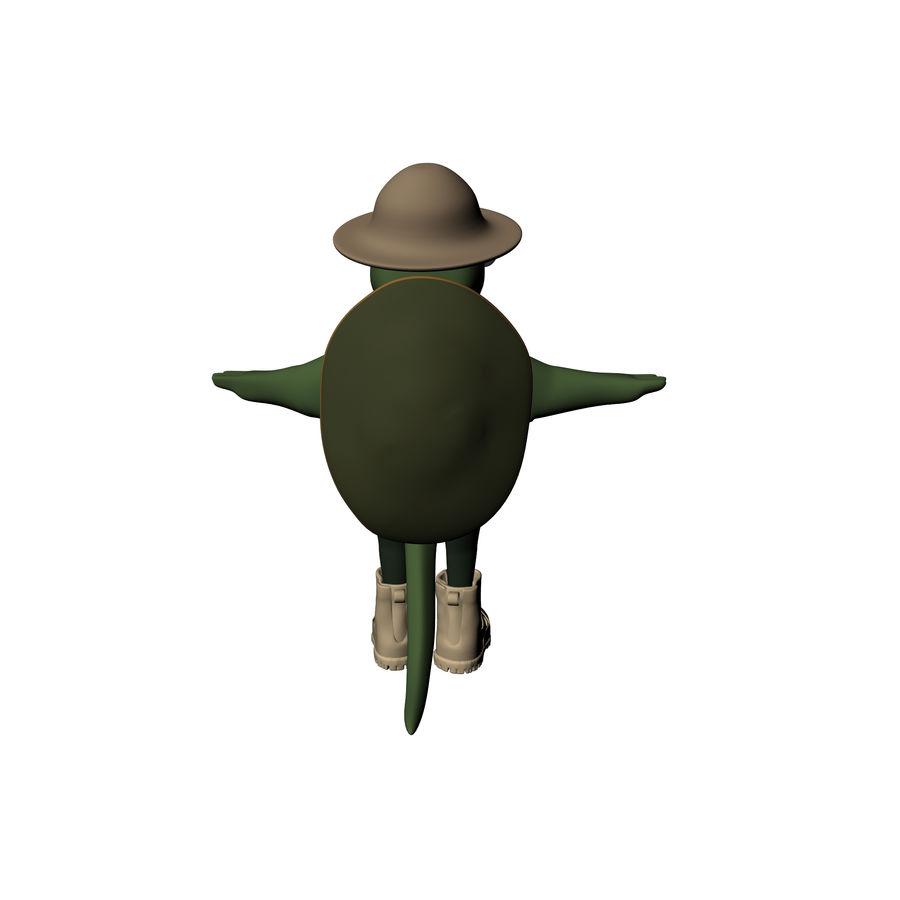 Explorer Turtle royalty-free 3d model - Preview no. 6
