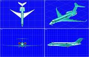 Modelo de ensamblaje sólido de aviones ejecutivos Bombardier Global 5000 modelo 3d