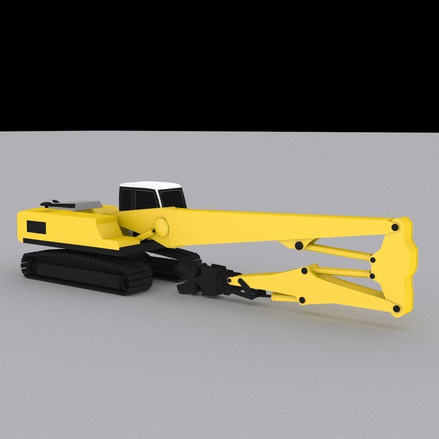 Crawler Excavator R934C royalty-free 3d model - Preview no. 3