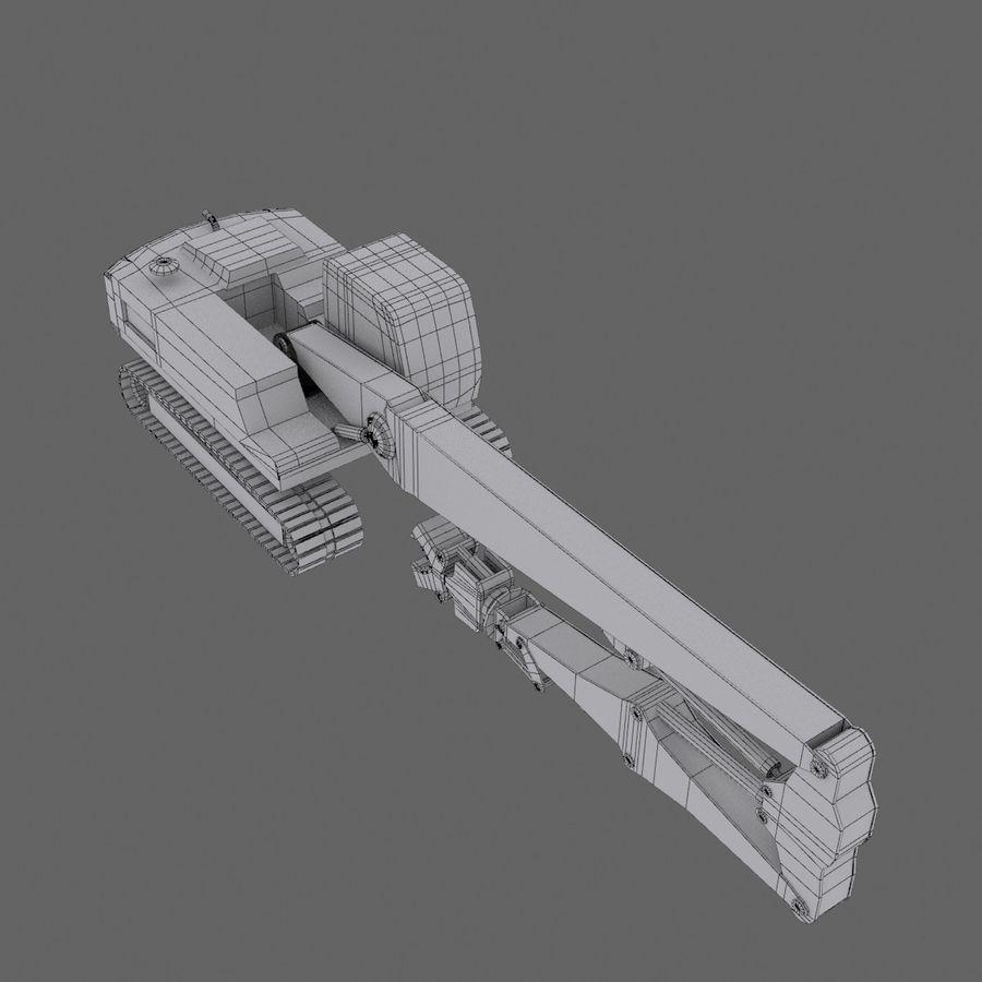 Crawler Excavator R934C royalty-free 3d model - Preview no. 7