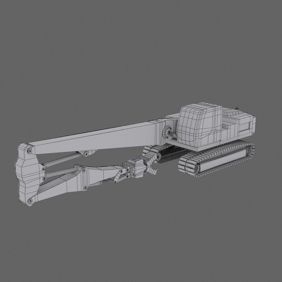Crawler Excavator R934C royalty-free 3d model - Preview no. 5