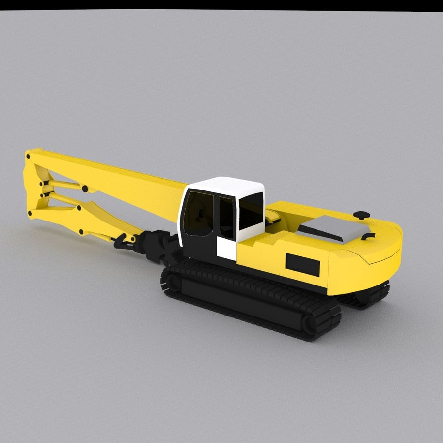 Crawler Excavator R934C royalty-free 3d model - Preview no. 2