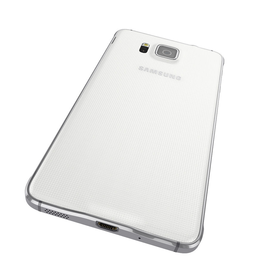 Samsung Galaxy Alpha Smartphone 2014 Wit royalty-free 3d model - Preview no. 10