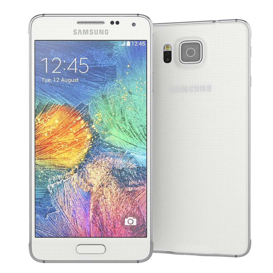 Samsung Galaxy Alpha Smartphone 2014 Wit royalty-free 3d model - Preview no. 2