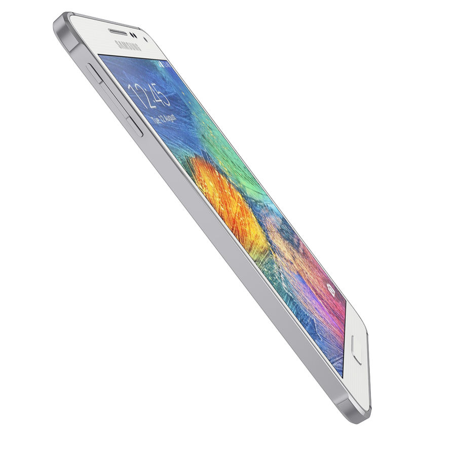 Samsung Galaxy Alpha Smartphone 2014 Wit royalty-free 3d model - Preview no. 12