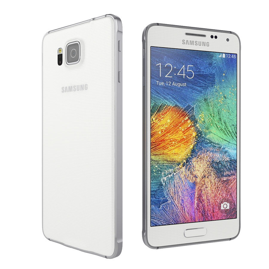 Samsung Galaxy Alpha Smartphone 2014 Wit royalty-free 3d model - Preview no. 4