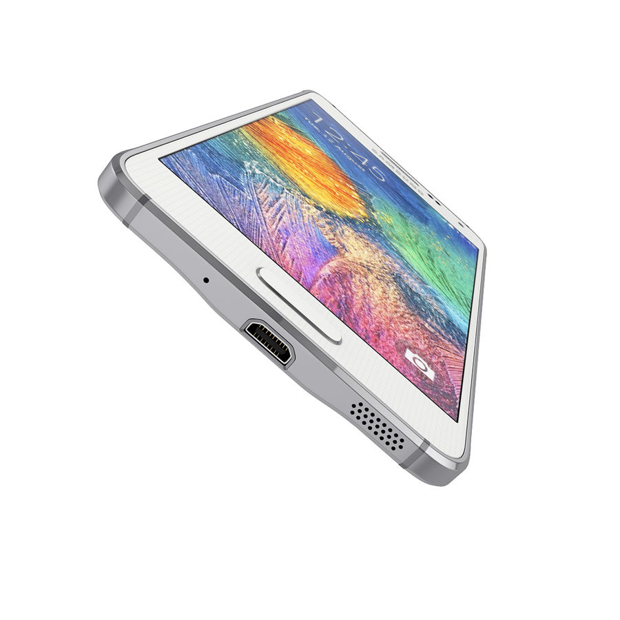 Samsung Galaxy Alpha Smartphone 2014 Wit royalty-free 3d model - Preview no. 6