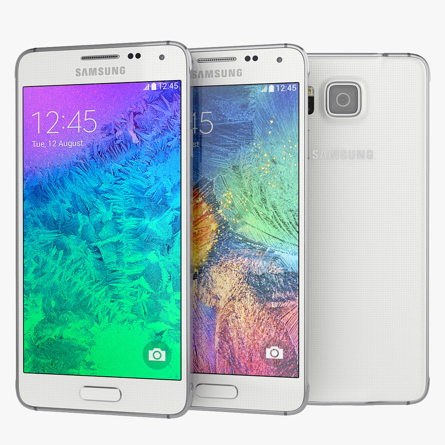 Samsung Galaxy Alpha Smartphone 2014 Wit royalty-free 3d model - Preview no. 1