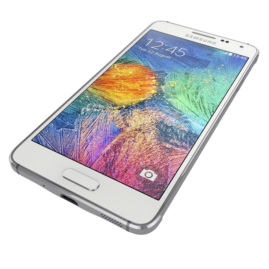 Samsung Galaxy Alpha Smartphone 2014 Wit royalty-free 3d model - Preview no. 5