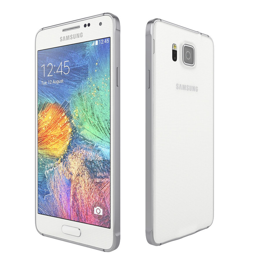 Samsung Galaxy Alpha Smartphone 2014 Wit royalty-free 3d model - Preview no. 3