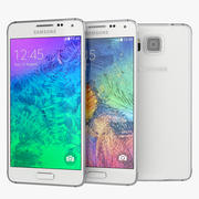 Samsung Galaxy Alpha Smartphone 2014 White 3d model