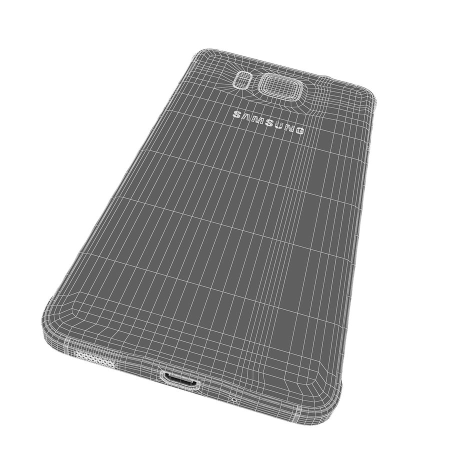 Samsung Galaxy Alpha Smartphone 2014 Wit royalty-free 3d model - Preview no. 18