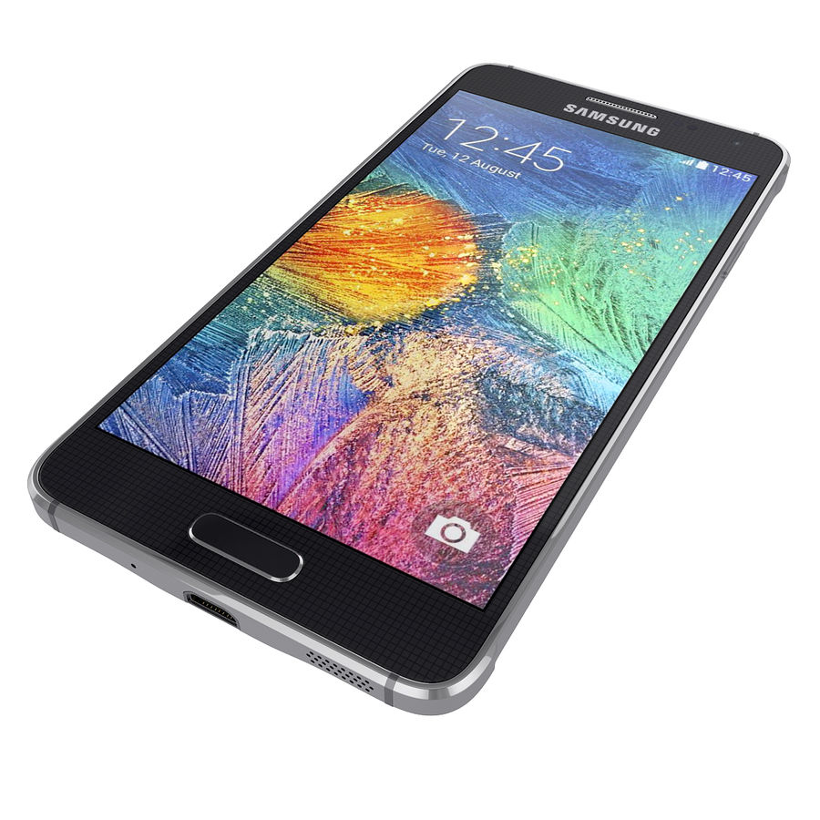 Smartphone Samsung Galaxy Alpha 2014 royalty-free 3d model - Preview no. 4
