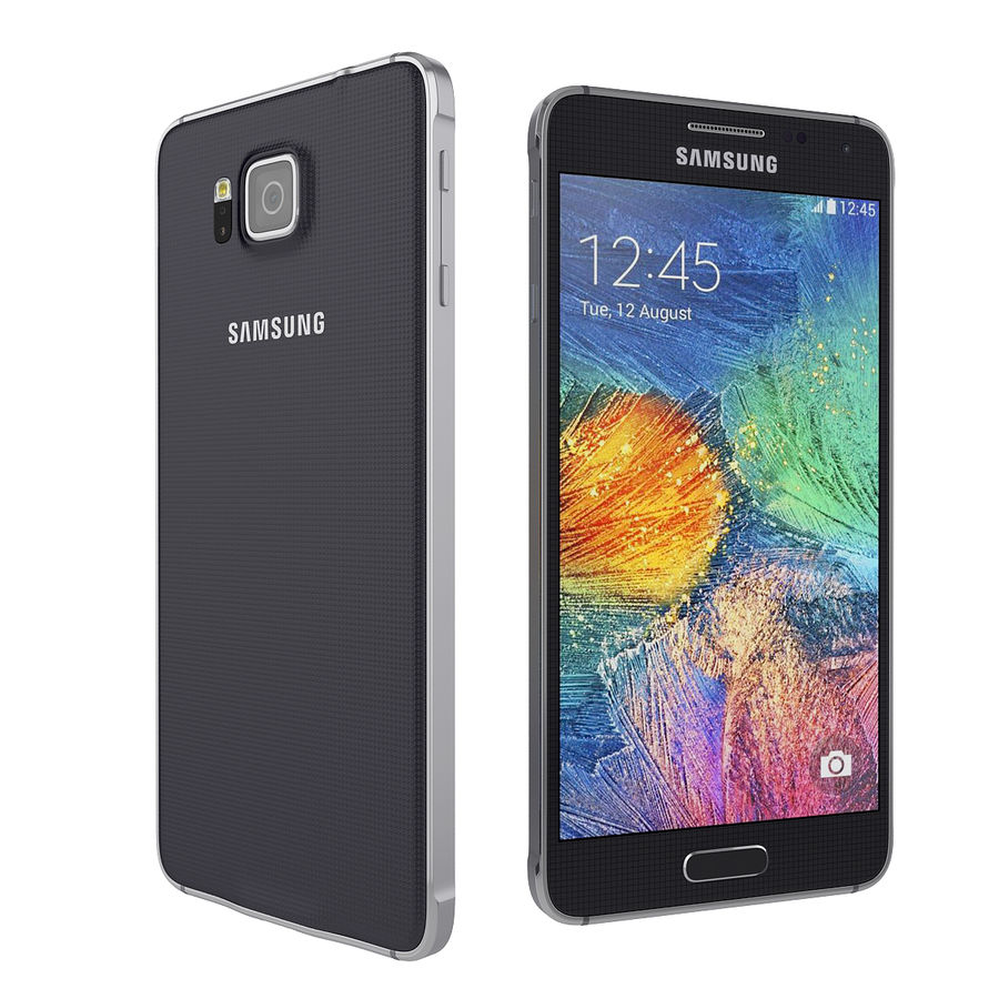 Smartphone Samsung Galaxy Alpha 2014 royalty-free 3d model - Preview no. 3