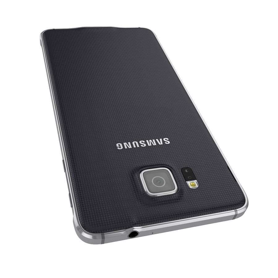 Smartphone Samsung Galaxy Alpha 2014 royalty-free 3d model - Preview no. 8