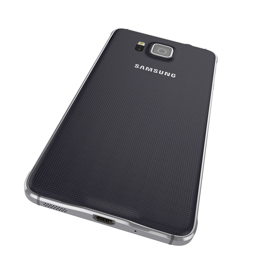 Smartphone Samsung Galaxy Alpha 2014 royalty-free 3d model - Preview no. 9