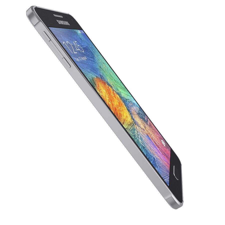 Smartphone Samsung Galaxy Alpha 2014 royalty-free 3d model - Preview no. 11