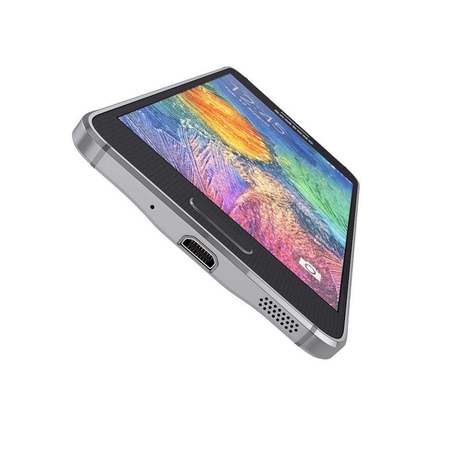Smartphone Samsung Galaxy Alpha 2014 royalty-free 3d model - Preview no. 5