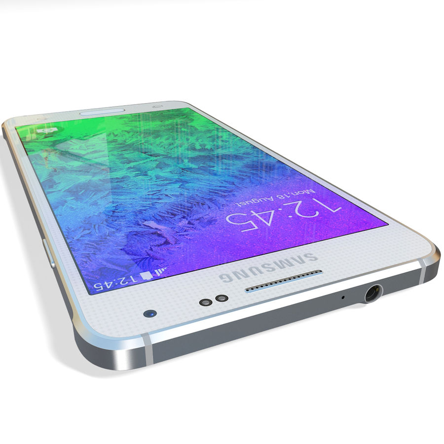 Samsung Galaxy Alpha White royalty-free 3d model - Preview no. 15