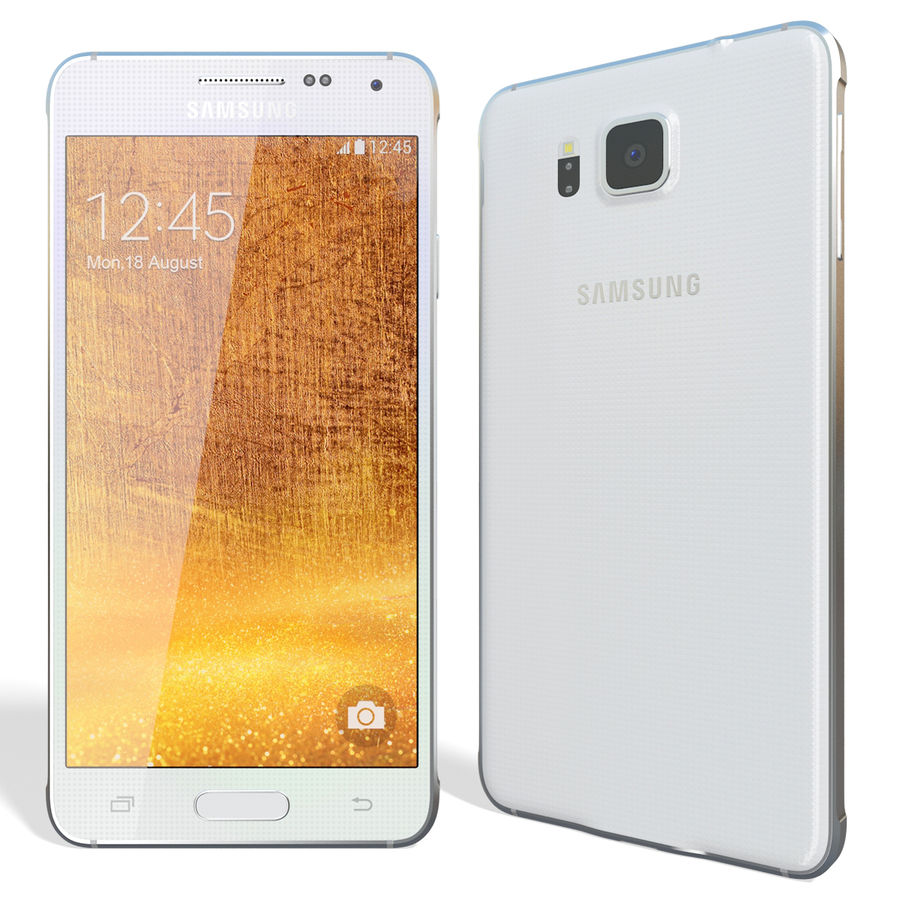 Samsung Galaxy Alpha White royalty-free 3d model - Preview no. 4