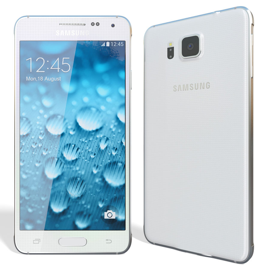 Samsung Galaxy Alpha White royalty-free 3d model - Preview no. 5