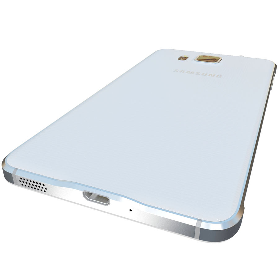 Samsung Galaxy Alpha White royalty-free 3d model - Preview no. 12