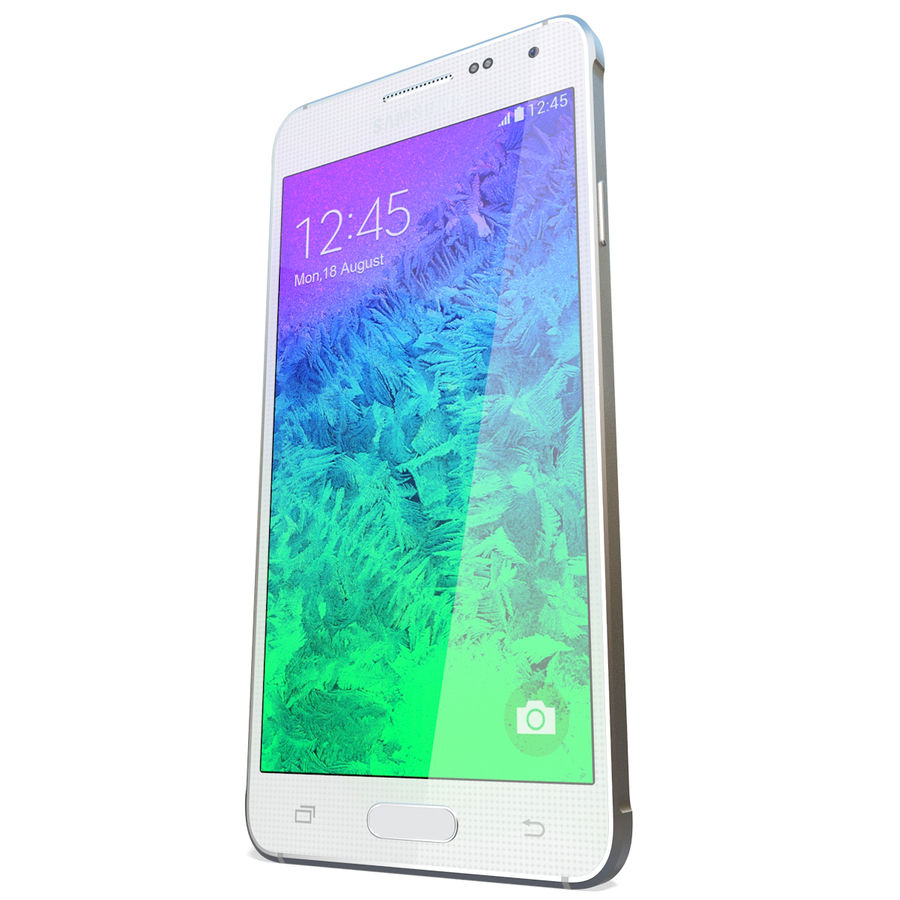 Samsung Galaxy Alpha White royalty-free 3d model - Preview no. 7