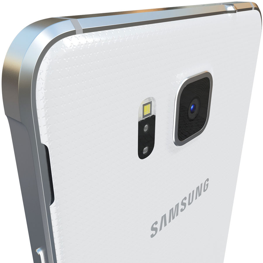 Samsung Galaxy Alpha White royalty-free 3d model - Preview no. 8