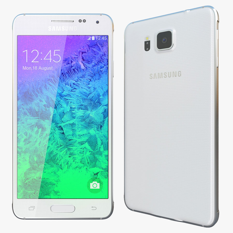 Samsung Galaxy Alpha White royalty-free 3d model - Preview no. 1