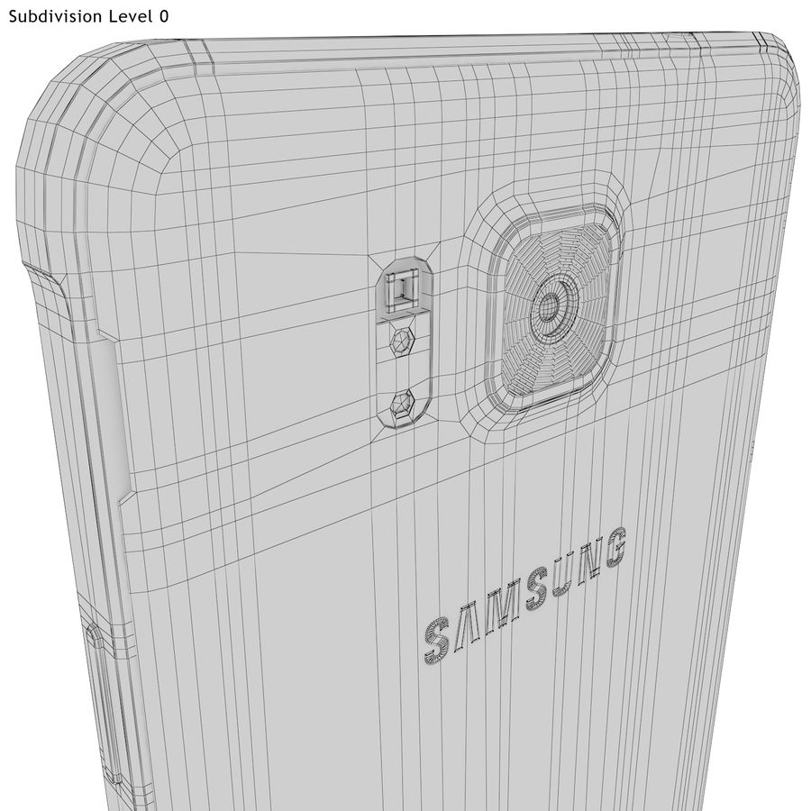Samsung Galaxy Alpha White royalty-free 3d model - Preview no. 25