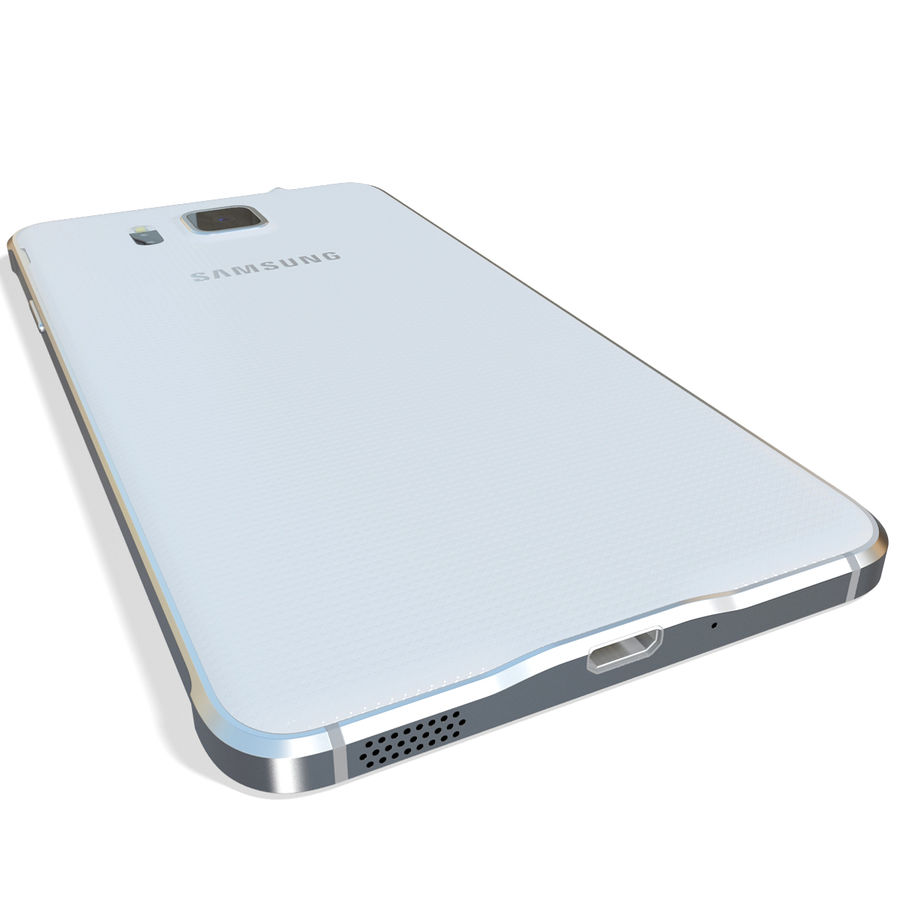 Samsung Galaxy Alpha White royalty-free 3d model - Preview no. 9