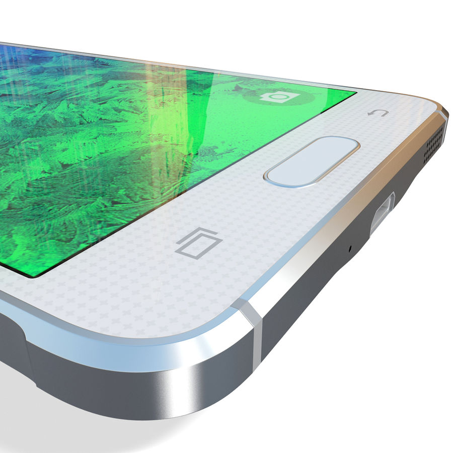 Samsung Galaxy Alpha White royalty-free 3d model - Preview no. 20