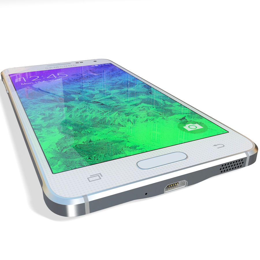 Samsung Galaxy Alpha White royalty-free 3d model - Preview no. 14