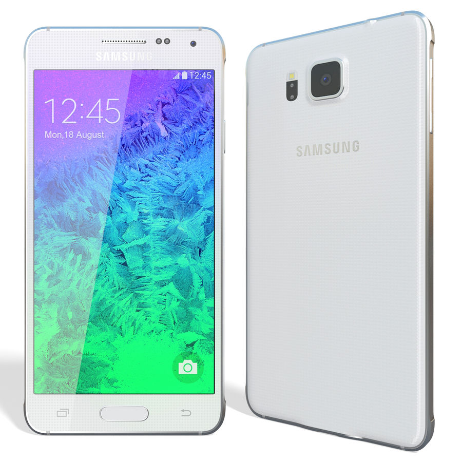Samsung Galaxy Alpha White royalty-free 3d model - Preview no. 3