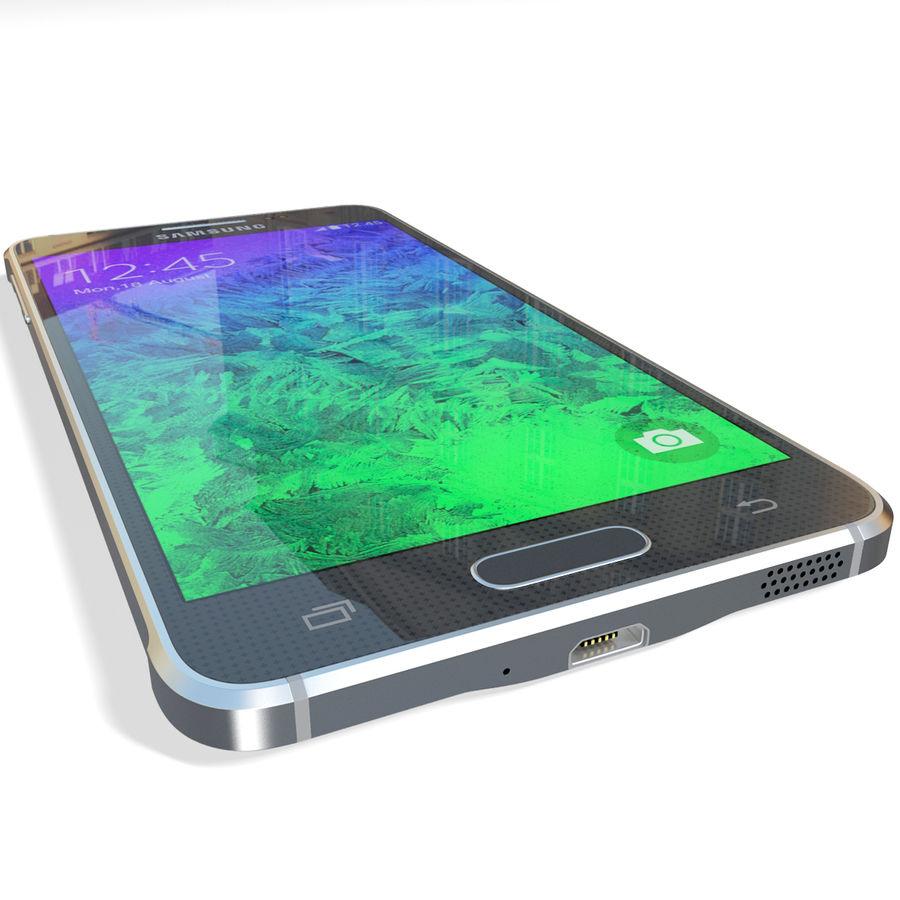 Samsung Galaxy Alpha Black royalty-free 3d model - Preview no. 14
