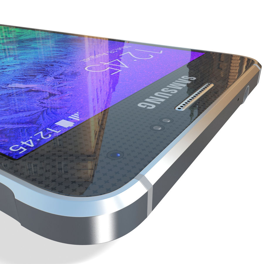 Samsung Galaxy Alpha Black royalty-free 3d model - Preview no. 19