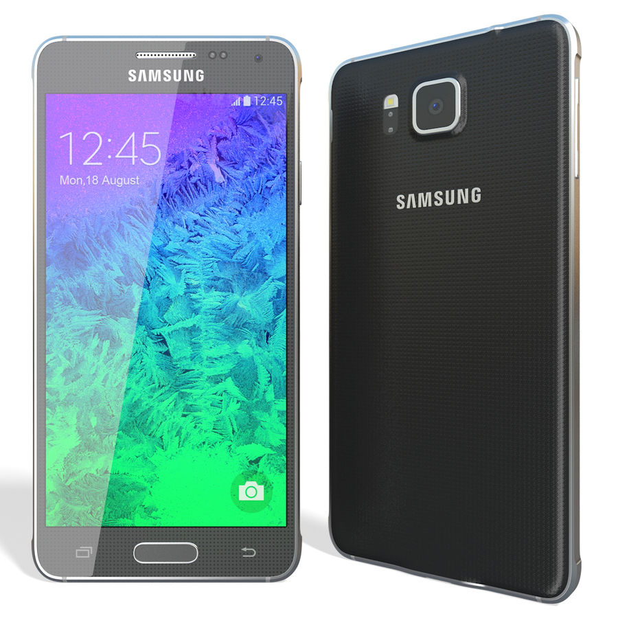 Samsung Galaxy Alpha Black royalty-free 3d model - Preview no. 3