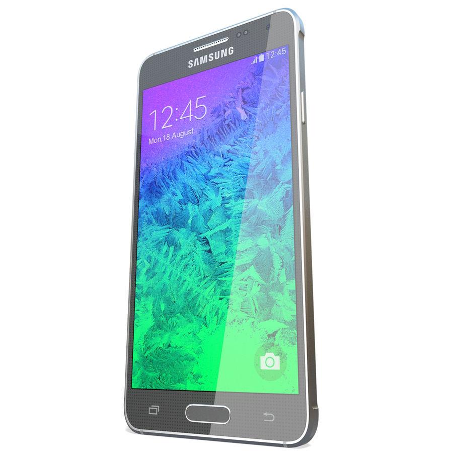 Samsung Galaxy Alpha Black royalty-free 3d model - Preview no. 7