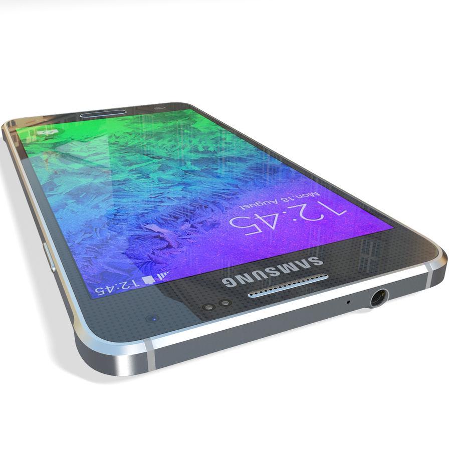 Samsung Galaxy Alpha Black royalty-free 3d model - Preview no. 15