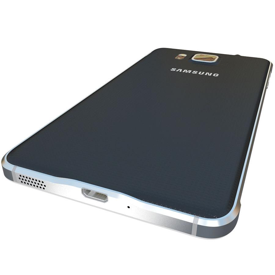 Samsung Galaxy Alpha Black royalty-free 3d model - Preview no. 12