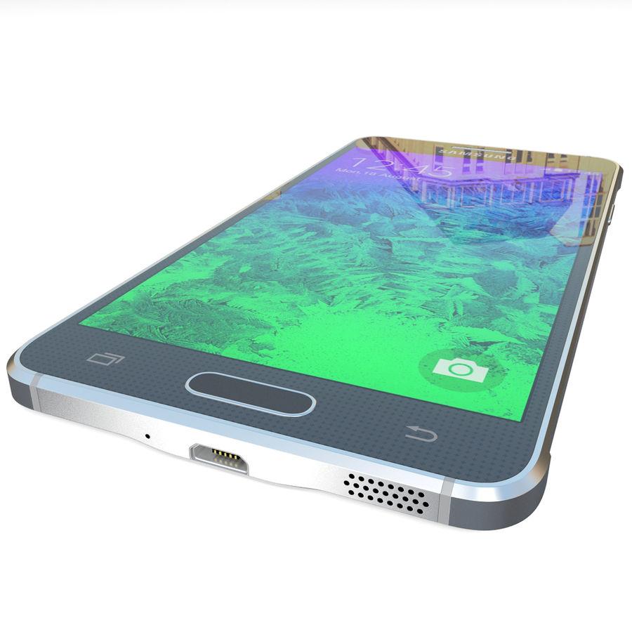 Samsung Galaxy Alpha Black royalty-free 3d model - Preview no. 13