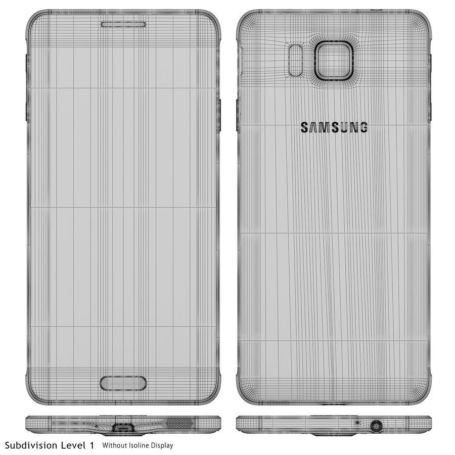 Samsung Galaxy Alpha Black royalty-free 3d model - Preview no. 22