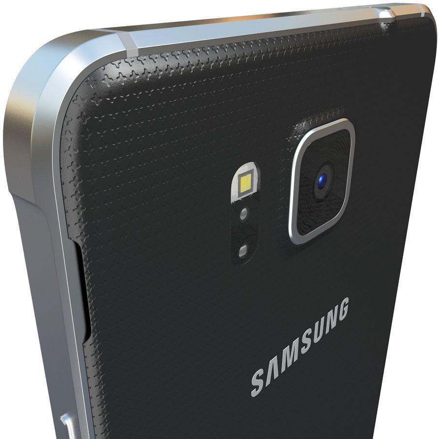 Samsung Galaxy Alpha Black royalty-free 3d model - Preview no. 8