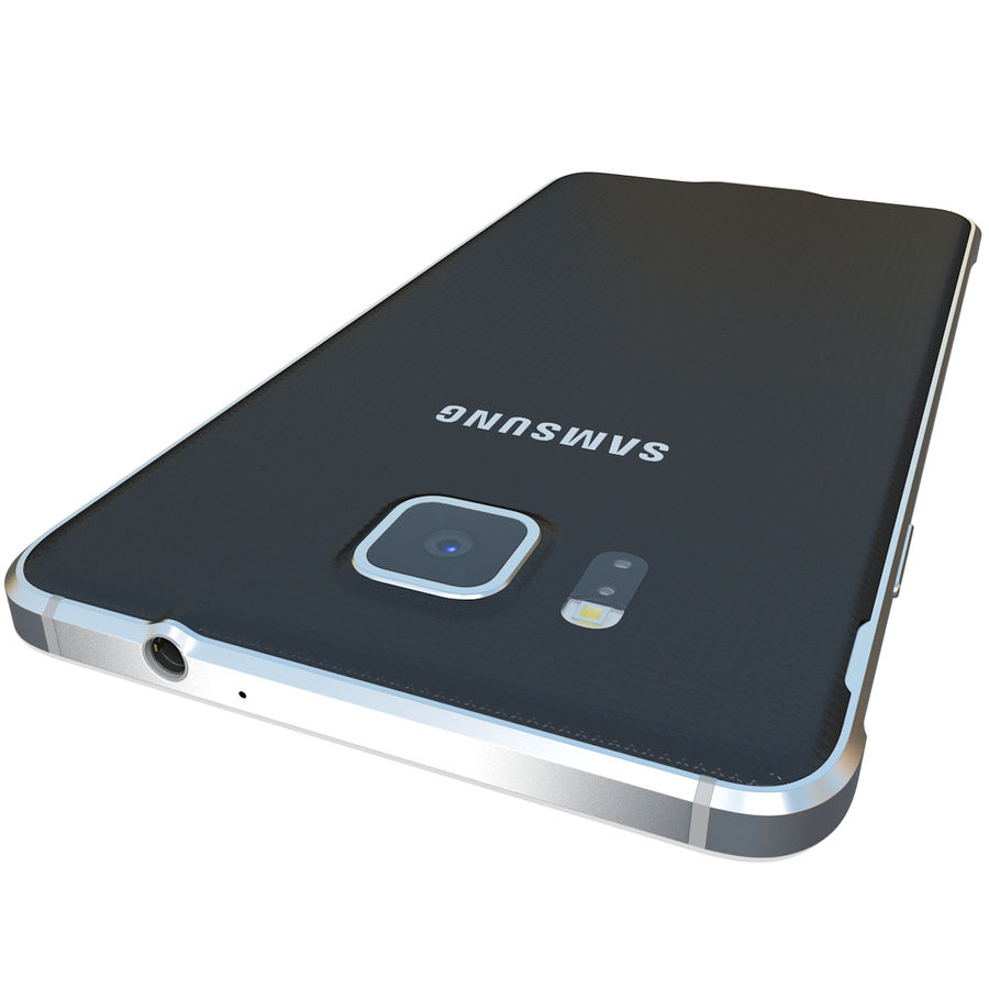 Samsung Galaxy Alpha Black royalty-free 3d model - Preview no. 11