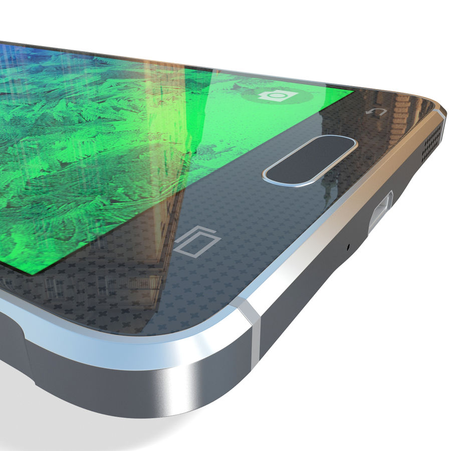 Samsung Galaxy Alpha Black royalty-free 3d model - Preview no. 20