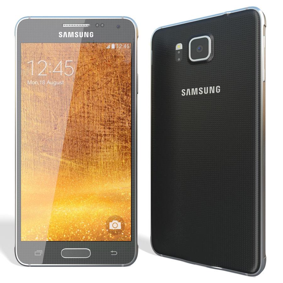 Samsung Galaxy Alpha Black royalty-free 3d model - Preview no. 4