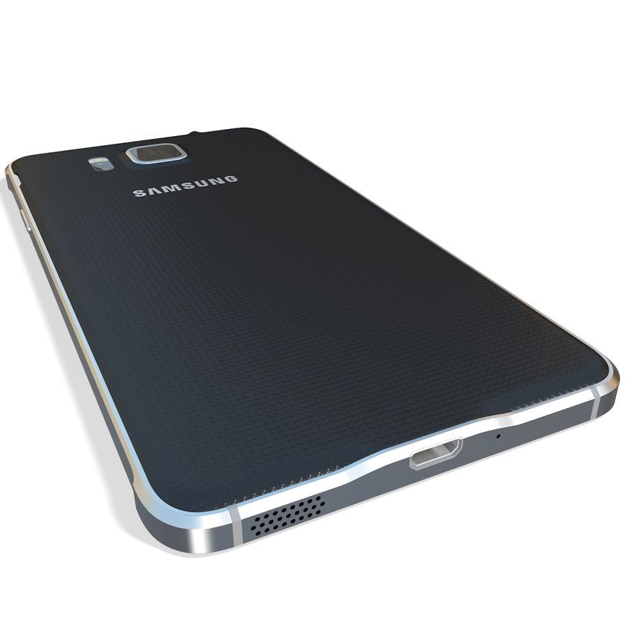 Samsung Galaxy Alpha Black royalty-free 3d model - Preview no. 9