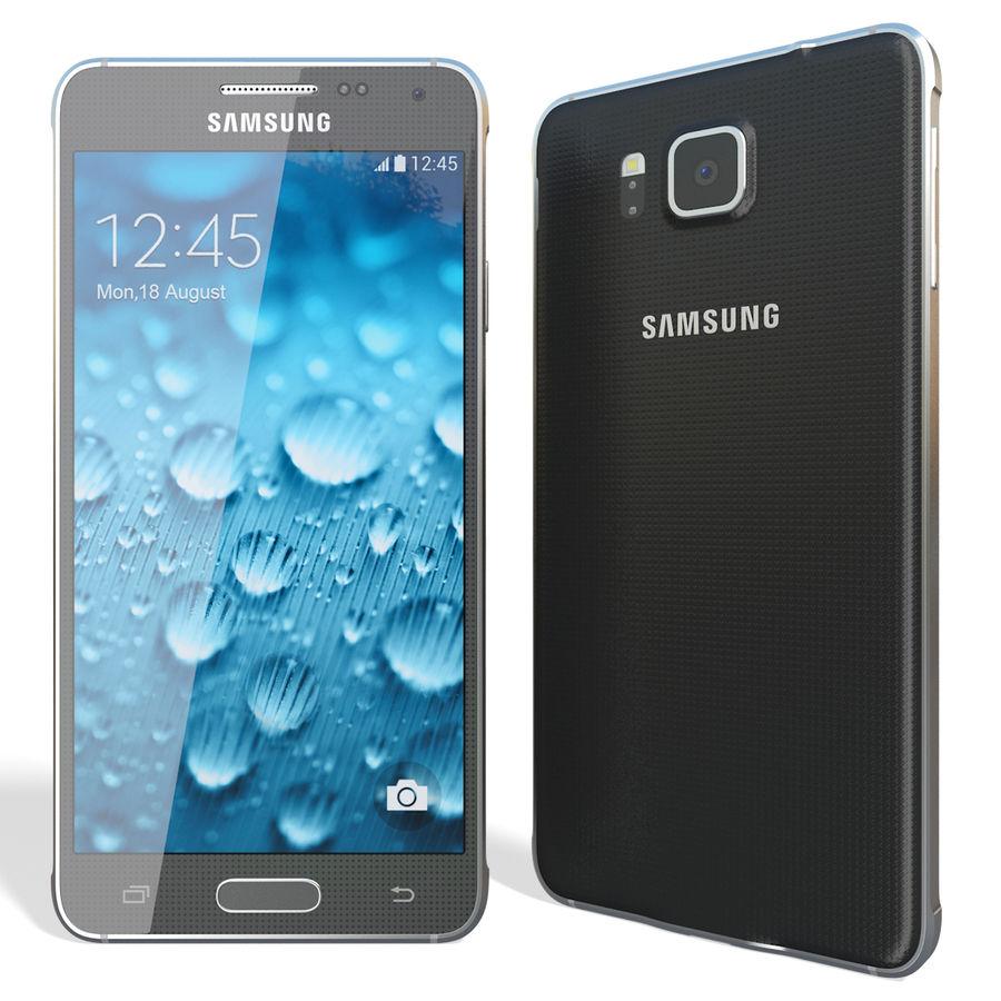 Samsung Galaxy Alpha Black royalty-free 3d model - Preview no. 5
