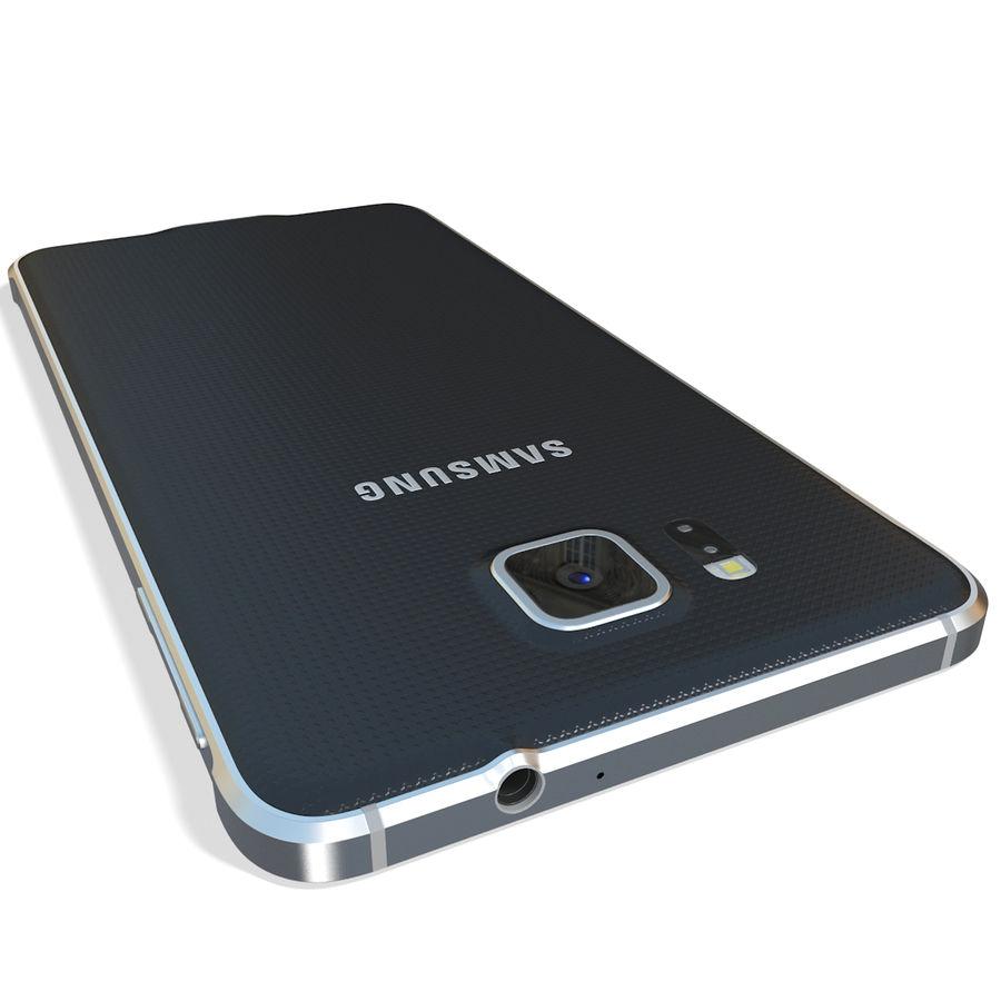 Samsung Galaxy Alpha Black royalty-free 3d model - Preview no. 10