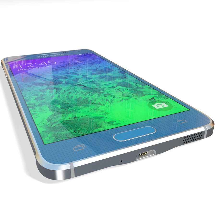 Samsung Galaxy Alpha Blue royalty-free 3d model - Preview no. 14